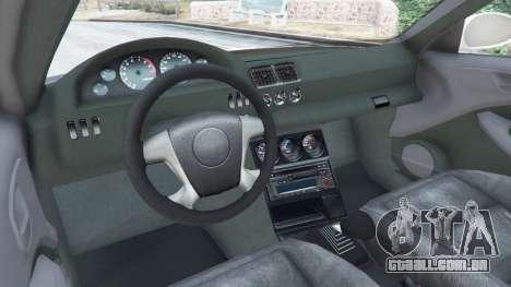 GTA 5 BMW M3 GTR E46 Most Wanted traseira direita vista lateral