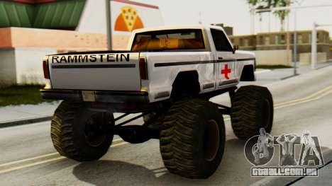 Novos pintura original por Um Monstro para GTA San Andreas esquerda vista