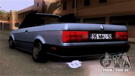 BMW M3 E30 Cabrio para GTA San Andreas esquerda vista