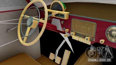 GAZ 21 Volga v3 para GTA San Andreas vista traseira