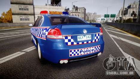 Holden VE Commodore SS Highway Patrol [ELS] v2.0 para GTA 4 traseira esquerda vista