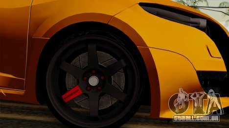 Renault Megane Sport HKNgarage para GTA San Andreas traseira esquerda vista