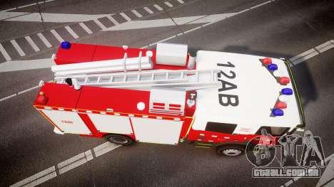 Scania 94D 260 Victorian CFA [ELS] para GTA 4 vista direita