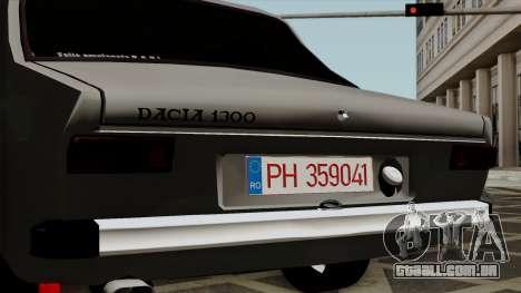 Dacia 1300 para GTA San Andreas vista traseira
