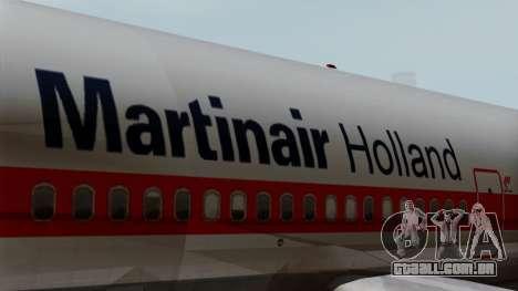 DC-10-30 Martinair para GTA San Andreas vista traseira