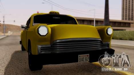 Cabbie New Edition para GTA San Andreas traseira esquerda vista