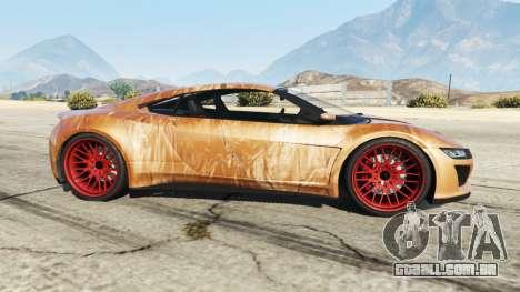 GTA 5 Dinka Jester (Racecar) Chocolate vista lateral esquerda
