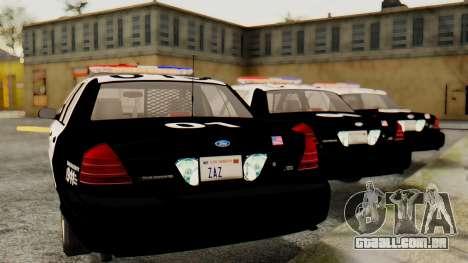 Ford Crown Victoria 2009 LAPD para GTA San Andreas esquerda vista