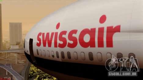 DC-10-30 Swissair para GTA San Andreas vista traseira