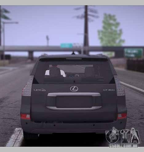 Lexus GX460 2014 para GTA San Andreas vista direita