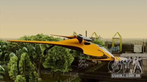 Star Wars N-1 Naboo Starfighter para GTA San Andreas vista traseira