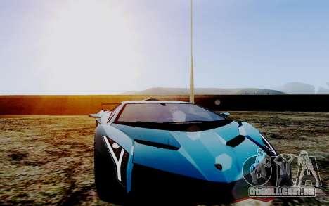 ENB Series HQ Graphics v2 para GTA San Andreas por diante tela