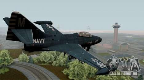Grumman F9F-5 Phanter para GTA San Andreas esquerda vista