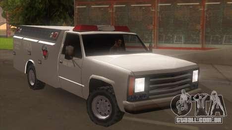 FDSA Fire Van para GTA San Andreas traseira esquerda vista