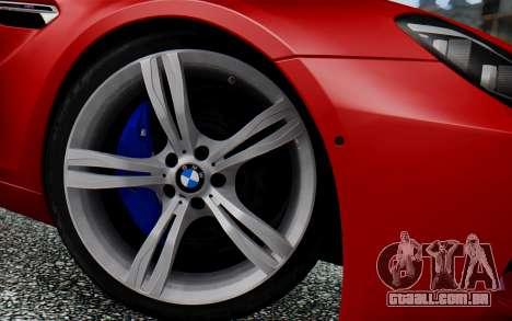 BMW M6 2013 v1.0 para GTA San Andreas vista direita