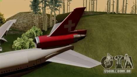 DC-10-30 Swissair para GTA San Andreas traseira esquerda vista