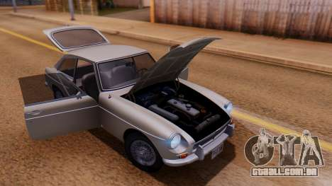 MGB GT (ADO23) 1965 FIV АПП para GTA San Andreas vista interior