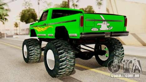 Monster New Texture para GTA San Andreas esquerda vista