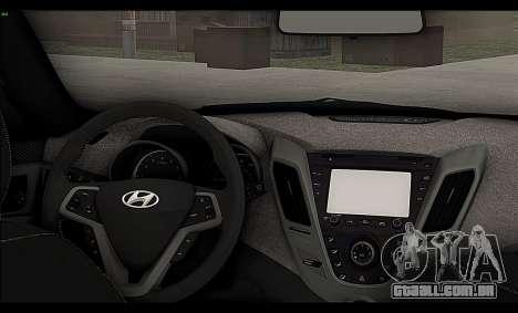 Hyundai Veloster 2012 para GTA San Andreas vista interior