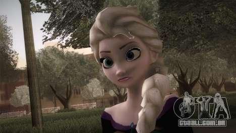 Elsa Frozen HQ Dress para GTA San Andreas