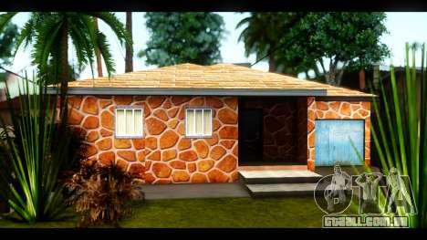 Novas texturas das casas ao redor grove Street para GTA San Andreas quinto tela