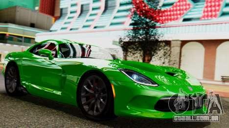 Dodge Viper SRT GTS 2013 IVF (MQ PJ) No Dirt para GTA San Andreas