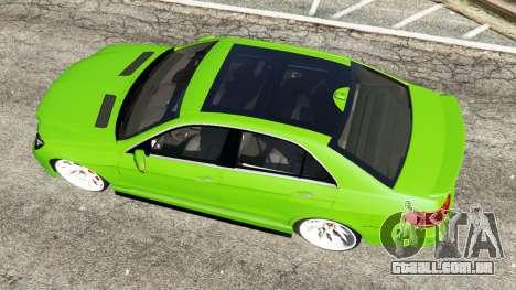 GTA 5 Mercedes-Benz E63 (W212) AMG v1.1 voltar vista