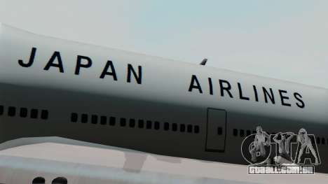 Boeing 747 JAL para GTA San Andreas vista traseira