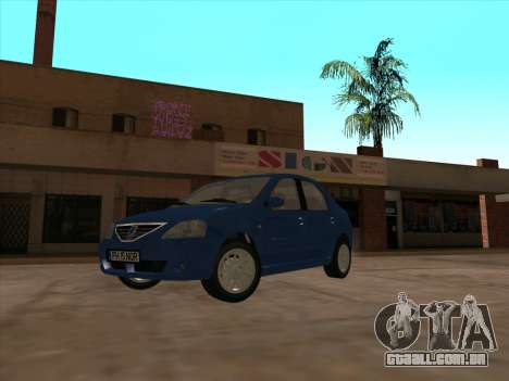 Dacia Logan Prestige para GTA San Andreas esquerda vista