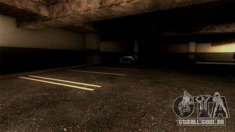 Novo LSPD Estacionamento para GTA San Andreas por diante tela