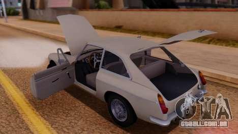 MGB GT (ADO23) 1965 FIV АПП para vista lateral GTA San Andreas