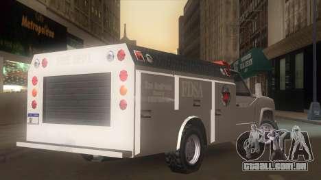 FDSA Fire Van para GTA San Andreas esquerda vista