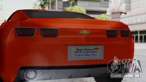 NFS Carbon Chevrolet Camaro IVF para GTA San Andreas vista direita