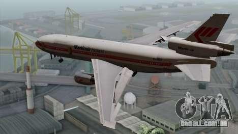 DC-10-30 Martinair para GTA San Andreas esquerda vista
