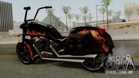 Freeway Diablo para GTA San Andreas traseira esquerda vista