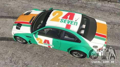 GTA 5 BMW M3 GTR E46 PJ3 voltar vista