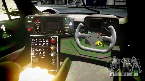 Toyota GT-One TS020 black spoiler para GTA 4 vista de volta