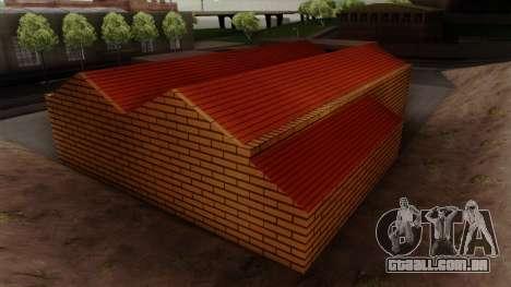 Novas texturas da antiga garagem em Doherty para GTA San Andreas quinto tela