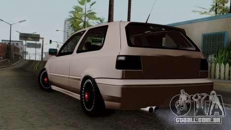 Volkswagen Golf 3 Shine para GTA San Andreas esquerda vista