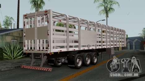Trailer Rejas Gas para GTA San Andreas esquerda vista
