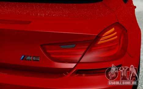 BMW M6 2013 v1.0 para GTA San Andreas vista superior