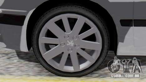 Peugeot 406 para GTA San Andreas traseira esquerda vista