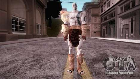 God Of War 3 Kratos Blue para GTA San Andreas segunda tela