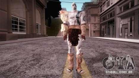 God Of War 3 Kratos Blue para GTA San Andreas segunda tela