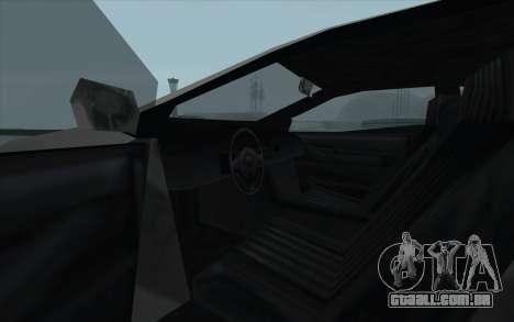 GTA 3 Infernus SA Style para GTA San Andreas vista interior