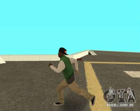 O novo garoto sobre o bloco grove Street para GTA San Andreas terceira tela