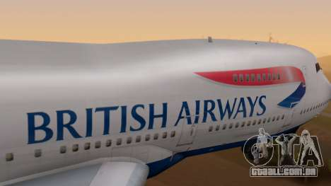 Boeing 747-200 British Airways para GTA San Andreas vista direita