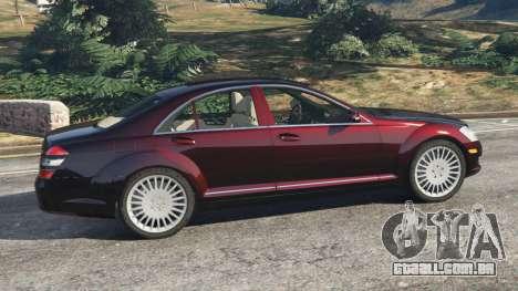 GTA 5 Mercedes-Benz S500 W221 v0.4 [Alpha] vista lateral esquerda