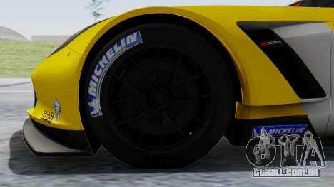 Chevrolet Corvette C7R GTE 2014 PJ1 para GTA San Andreas traseira esquerda vista