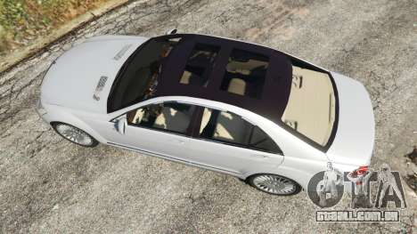 GTA 5 Mercedes-Benz S500 W221 v0.3 [Alpha] voltar vista
